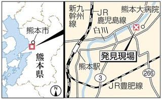 発見現場の地図